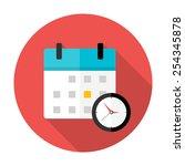 Calendar And Clock Time Circle...