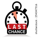 last chance sign with stopwatch | Shutterstock .eps vector #254347516