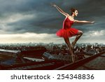 ballet dancer | Shutterstock . vector #254348836