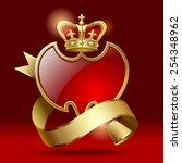 vector retro artistic badge in...   Shutterstock .eps vector #254348962