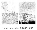 set of isolated grunge textures ... | Shutterstock .eps vector #254351455
