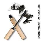 mascara  wand applicator and... | Shutterstock . vector #254356288
