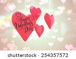 happy valentines day against... | Shutterstock . vector #254357572