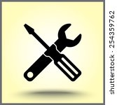 service symbol. hammer with...