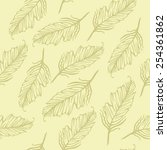 seamless pattern of feathers | Shutterstock .eps vector #254361862