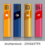 colorful modern text box... | Shutterstock .eps vector #254365795