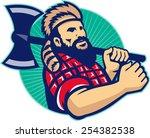 illustration of lumberjack... | Shutterstock .eps vector #254382538