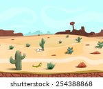 Seamless Cartoon Desert...