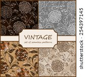 seamless vintage floral... | Shutterstock .eps vector #254397145