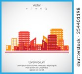 creative urban landscape  | Shutterstock .eps vector #254401198