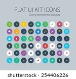 style flat icons set for...