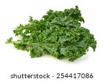 Kale Leafs On White Background