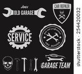 set of logo  badge  emblem and... | Shutterstock .eps vector #254420032