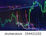 stock market chart  graph on... | Shutterstock . vector #254421232