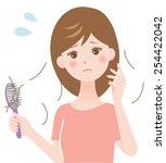 hair loss | Shutterstock .eps vector #254422042