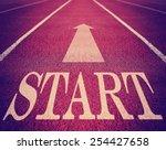 concept of start with an arrow... | Shutterstock . vector #254427658