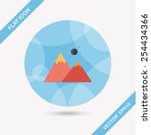 mountain tourist flat icon with ... | Shutterstock .eps vector #254434366