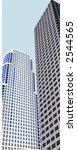 Twin 3d Skyscrapers - stock vector