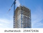 construction of high rise... | Shutterstock . vector #254472436