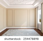interior of empty room. 3d... | Shutterstock . vector #254478898