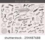 arrows set doodle vector... | Shutterstock .eps vector #254487688