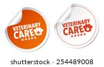 veterinary care stickers | Shutterstock .eps vector #254489008