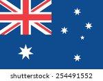australia flag  | Shutterstock .eps vector #254491552