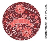 concept hello card. elegant...   Shutterstock .eps vector #254492326
