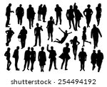 people silhouettes set | Shutterstock .eps vector #254494192