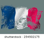 france grunge flag. | Shutterstock .eps vector #254502175
