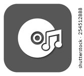 the music icon. disc symbol.... | Shutterstock .eps vector #254512888