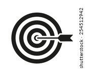 the target icon. target symbol.