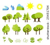 illustration of assorted nature ... | Shutterstock . vector #25451704