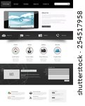 one page website template.... | Shutterstock .eps vector #254517958