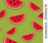 watermelon pattern   Shutterstock .eps vector #254520178
