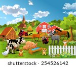Stock vector farm animals 254526142