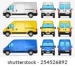 vector delivery van   side  ...   Shutterstock .eps vector #254526892