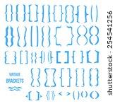 vintage brackets hand drawn... | Shutterstock .eps vector #254541256