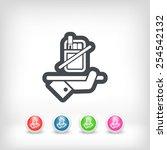 no smoke icon | Shutterstock .eps vector #254542132