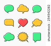 speech and thought bubbles with ... | Shutterstock .eps vector #254542282