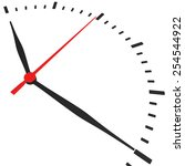 abstract clock with arrows no... | Shutterstock . vector #254544922