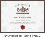certificate design template. | Shutterstock .eps vector #254549812