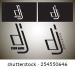 dj logo in black and white...