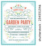 Vector Garden Party Invitation...