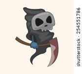 bizarre monster theme elements | Shutterstock .eps vector #254551786