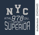 nyc athletic typographic for t... | Shutterstock .eps vector #254554435