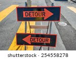 Detour sign on the street...