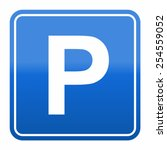 parking sign | Shutterstock .eps vector #254559052