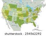 highly detailed editable...   Shutterstock .eps vector #254562292