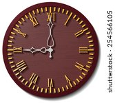 old wooden  round the clock | Shutterstock .eps vector #254566105